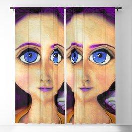 Purple Hair Girl  Blackout Curtain