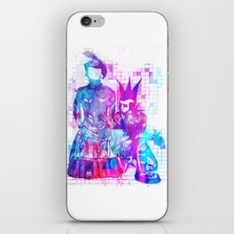 Cotton Candy Faceless Goth woman and punk dude iPhone Skin