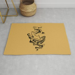Little Flame : In Black and Yellow Rug