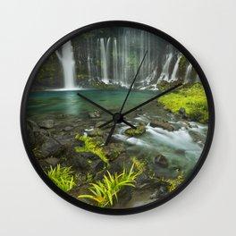 II - Shiraito Falls near Mount Fuji, Japan Wall Clock