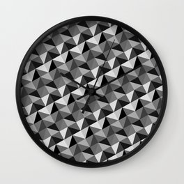Pattern of triangles in gray shades Wall Clock