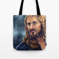 fili Tote Bags featuring Fili-Blue and gold by Faerytale-Wings