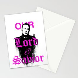 Elon Musk our Lord and Saviour Stationery Cards