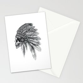Indian Chief Skull Stationery Cards