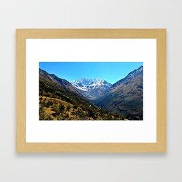 Salkantay Mountain Framed Art Print
