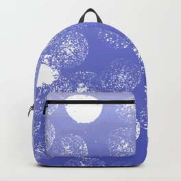Abstract hand painted violet white watercolor paint polka dots Backpack