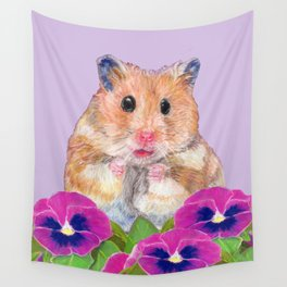 Cute Little Hamster Wall Tapestry