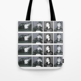 Monochrome Magnificence: Bowie Tote Bag