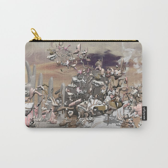 Migration II - surreal doodle sandworld Carry-All Pouch