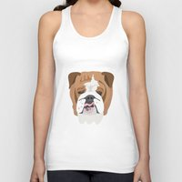 english bulldog Tank Tops featuring English bulldog by Hedera