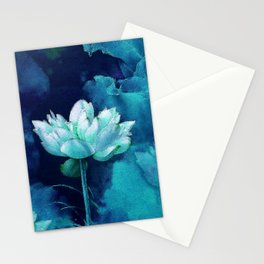 Moonlight Water Lily Stationery Cards