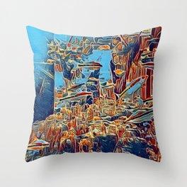 Hidden Atlantis Throw Pillow