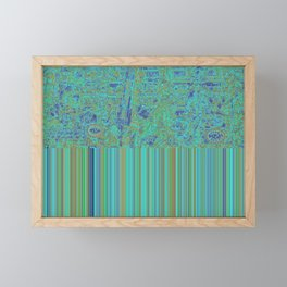 Abstract in Turquoise Framed Mini Art Print