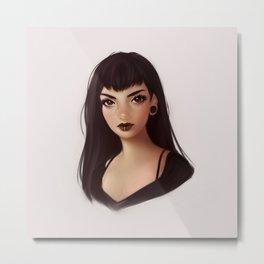 Goth girl Metal Print