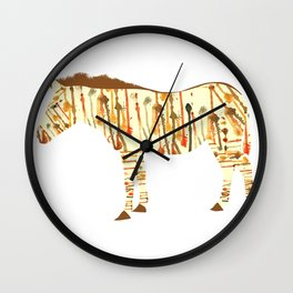 Watercolour Zebra Wall Clock