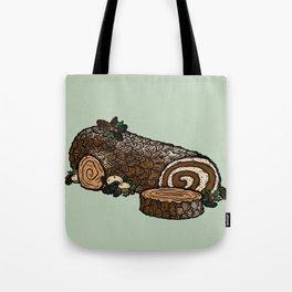 Y is for Yule Log Tote Bag