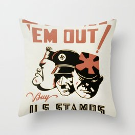 Vintage poster - Stamp 'Em Out Throw Pillow
