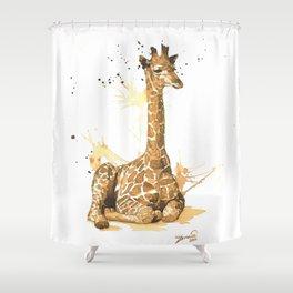 Coffee giraffe Shower Curtain