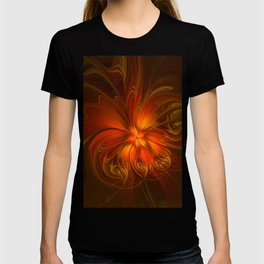 Burning, Abstract Fractal Art With Warmth T-shirt
