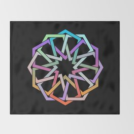 Geometric Art - Hexagon Rose Throw Blanket
