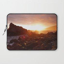 Big Sur's Rocky Shore Sunset Laptop Sleeve