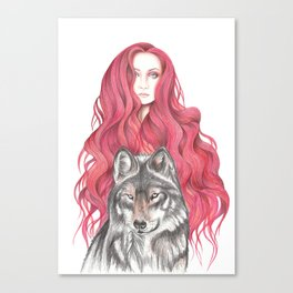 Fire Woman Canvas Print