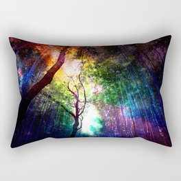 rainbow rain Rectangular Pillow