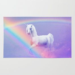 Unicorn and Rainbow Rug