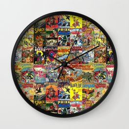 Comic Book Collage II Wall Clock