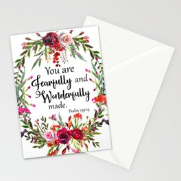 You are Fearfully and Wonderfully made Stationery Cards