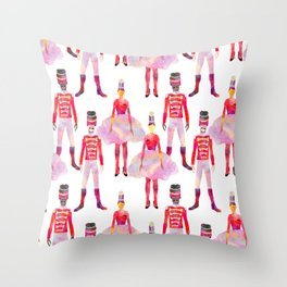 Nutcracker Ballet - White Throw Pillow