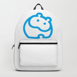 Blue hippo Backpack
