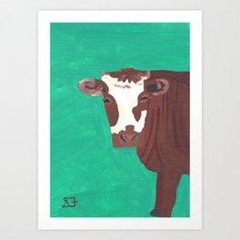 A Heifer Named Ice Cream Art Print