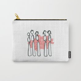 People with Red Lines Carry-All Pouch