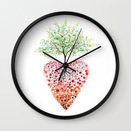 Tree of life heart Wall Clock