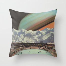Saturn Spa Throw Pillow