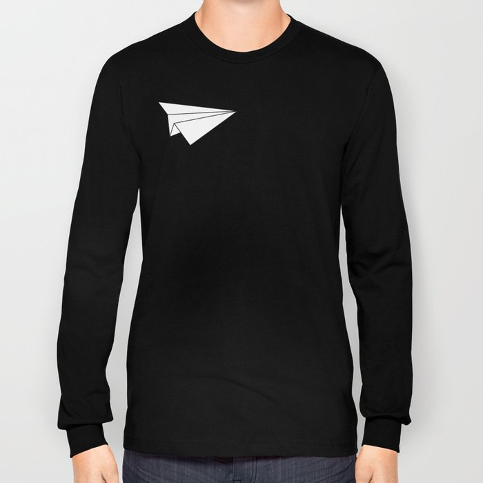 Paper Airplane Long Sleeve T-shirt
