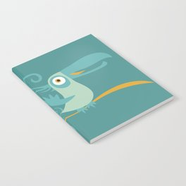 Mid Century Modern Tropical Toucan Tiki Bird Notebook