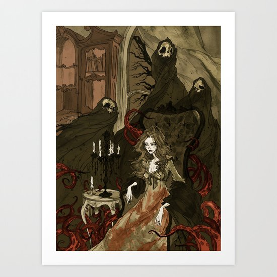 Nightmares of the Alchemist's Wife Art Print