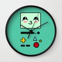 bmo Wall Clocks featuring BMO by Janice Wong
