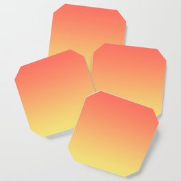 Orange Coral Yellow Gradient Ombre Pattern Coaster