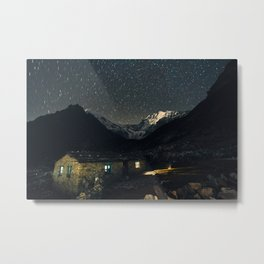Night above Langtang valley Metal Print