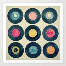 Vinyl Collection Art Print