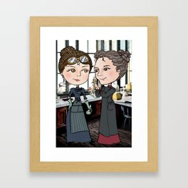 Woman in Science: The Curies Framed Art Print