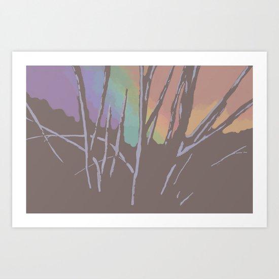 White Light Dawning Art Print