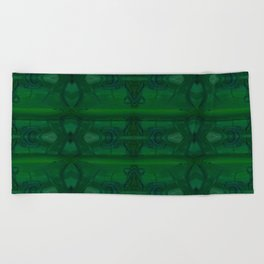 Patterns II Green Beach Towel