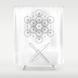 Body, Soul & Intellect Shower Curtain