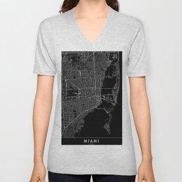 Miami Black Map Unisex V-Neck