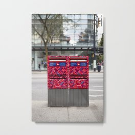 Canada Post Mailboxes Metal Print