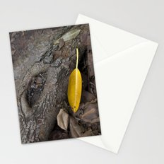 lone yellow leaf  Stationery Cards